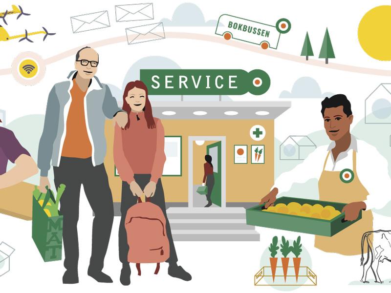 Service och samverkan